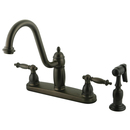 Elements of Design EB7115TLBS Double Handle 8
