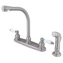 Elements of Design EB718SP High Arch Kitchen Faucet With Non-Metallic Sprayer, Satin Nickel
