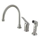 Elements of Design EB818 Single Loop Handle Kitchen Faucet with Non-Metallic Side Sprayer, Satin Nickel