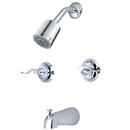 Elements of Design EB8241NFL Two Handle Tub & Shower Faucet, Polished Chrome Finish