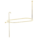 Elements of Design ED1040-2 Shower Ring and Riser Combination, Polished Brass