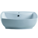 Elements of Design EDV8145 White China Vessel Bathroom Sink with Overflow Hole & Faucet Hole, White Finish