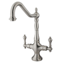 Elements of Design ES1778ALLS Two Handle Kitchen Faucet Without Sprayer, Satin Nickel