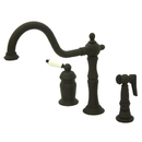Elements of Design ES1815PLBS Wide Spread Deck Mount Kitchen Faucet with Brass Sprayer, Polished Brass