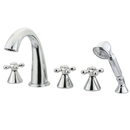 Elements of Design ES23615AX Three Handle Roman Tub Filler with Hand Shower, Polished Chrome
