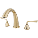 Elements of Design ES2362ZL Two Handle Roman Tub Filler, Polished Brass Finish