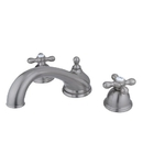 Elements of Design ES3358AX Two Handle Roman Tub Filler, Satin Nickel