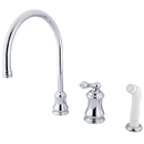 Elements of Design ES3811AL Single Handle Widespread Kitchen Faucet with Non-Metallic Sprayer, Polished Chrome