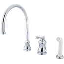 Elements of Design ES3811BL Single Handle Widespread Kitchen Faucet with Non-Metallic Sprayer, Polished Chrome