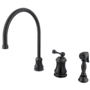Elements of Design ES3815BLBS Single Handle Widespread Kitchen Faucet with Brass Sprayer, Oil Rubbed Bronze