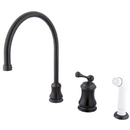 Elements of Design ES3815BL Single Handle Widespread Kitchen Faucet with Non-Metallic Sprayer, Oil Rubbed Bronze