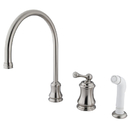 Elements of Design ES3818BL Single Handle Widespread Kitchen Faucet with Non-Metallic Sprayer, Satin Nickel