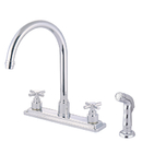 Elements of Design ES8791EX Two Handle Kitchen Faucet with Plastic Sprayer, Polished Chrome