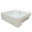 Kingston Brass EV4034 White China Vessel Bathroom Sink with Overflow Hole, White