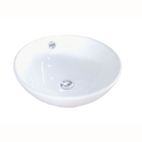 Kingston Brass EV4129 White China Vessel Bathroom Sink with Overflow Hole, White