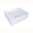 Kingston Brass EV4158 White China Vessel Bathroom Sink without Overflow Hole, White
