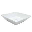 Kingston Brass EV4256 White China Vessel Bathroom Sink without Overflow Hole, White