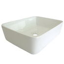 Kingston Brass EV5102 White China Vessel Bathroom Sink without Overflow Hole, White