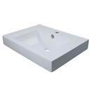 Kingston Brass EV9620 White China Vessel Bathroom Sink with Overflow Hole & Faucet Hole, White