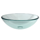 Kingston Brass EVSPCC1 Crystal Glass Vessel Bathroom Sink without Overflow Hole, Crystal Clear