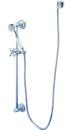 Kingston Brass KAK3421W1 4 Piece Shower Combo, Chrome