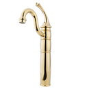 Kingston Brass KB1422GL Single Handle Vessel Sink Faucet with Optional Cover Plate, Polished Brass