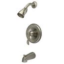 Kingston Brass KB1638DFL Single Handle Tub & Shower Faucet, Satin Nickel