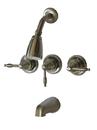 Kingston Brass KB238KL Three Handle Tub & Shower Faucet, Satin Nickel