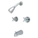 Kingston Brass KB241AX Two Handle Tub & Shower Faucet, Chrome