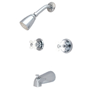 Kingston Brass KB241PX Two Handle Tub & Shower Faucet, Chrome