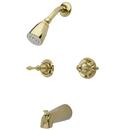Kingston Brass KB242AL Two Handle Tub & Shower Faucet, Polished Brass