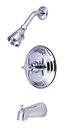 Kingston Brass KB2631DX Single Handle Tub & Shower Faucet, Chrome