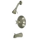 Kingston Brass KB2638BX Single Handle Tub & Shower Faucet, Satin Nickel