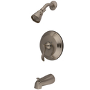 Kingston Brass KB2638DFL Single Handle Tub & Shower Faucet, Satin Nickel