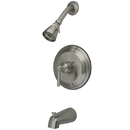 Kingston Brass KB2638EL Single Handle Tub & Shower Faucet, Satin Nickel