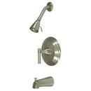 Kingston Brass KB2638ML Single Handle Tub & Shower Faucet, Satin Nickel