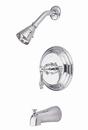 Kingston Brass KB3631AL Single Handle Tub & Shower Faucet, Chrome