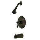 Kingston Brass KB3635AL Single Handle Tub & Shower Faucet, Oil Rubbed Bronze