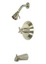 Kingston Brass KB3638AX Single Handle Tub & Shower Faucet, Satin Nickel