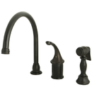 Kingston Brass KB3815GLBS Single Handle Kitchen Faucet with Brass Sprayer, Oil Rubbed Bronze