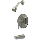 Kingston Brass KB46380DL Single Handle Tub & Shower Faucet, Satin Nickel