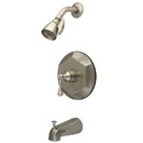 Kingston Brass KB4638BL Single Handle Tub & Shower Faucet, Satin Nickel