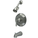 Kingston Brass KB4638HL Single Handle Tub & Shower Faucet, Satin Nickel