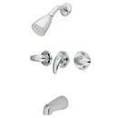 Kingston Brass KB6231LL Three Handle Tub & Shower Faucet, Chrome
