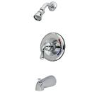 Kingston Brass KB631 Single Handle Tub & Shower Faucet, Chrome