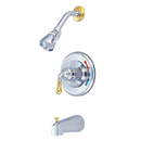 Kingston Brass KB634T Trim Only for Single Handle Tub & Shower Faucet, Chrome/Polished Brass