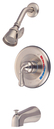 Kingston Brass KB638T Trim Only for Single Handle Tub & Shower Faucet, Satin Nickel