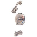 Kingston Brass KB638 Single Handle Tub & Shower Faucet, Satin Nickel