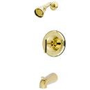 Kingston Brass KB6632CML Single Handle Shower Faucet, Polished Brass