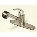 Kingston Brass KB6707LL Single Handle Pull-Out Kitchen Faucet with Satin Spray, Polished Chrome
